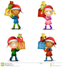 christmas kids with gifts 2 royalty free stock images image 7171859