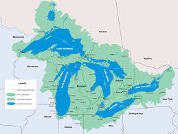 canadian map with great lakes best photos of great lakes watershed map five great lakes map
