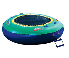 amazon com banzai bounce inflatable water or land trampoline