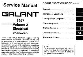 1997 mitsubishi galant repair shop manual set original