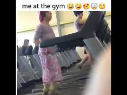 Treadmill Meme - lady dancing on the treadmill at the gym vine youtube