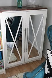 Ikea Billy Bookcase With Doors Diy Tutorial How To Add Mirror Doors To Ikea Billy Bookcases And