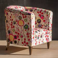 Armchair Upholstered 1 4 Scale Doll Tub Chair With Bright From Toteetoy On Etsy