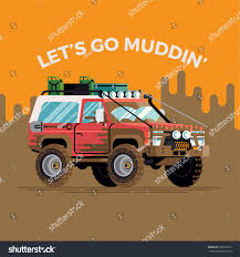 jeep mudding clipart cool funny vector concept design on stock vector 636356672