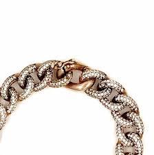 sterling silver rose gold bracelet images Ashley gold rose gold plated sterling silver and cz cuban link png