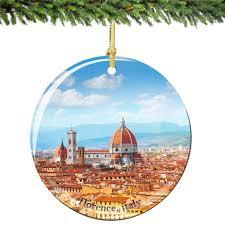 amazon com florence christmas ornament italy porcelain 2 75