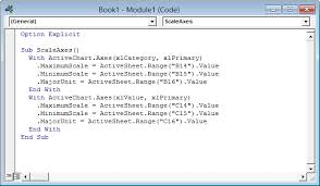 link excel chart axis scale to values in cells peltier tech blog