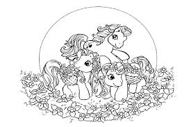 pony coloring pages print color free