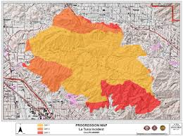 Wildfire Map Lafd La Tuna Fire Map U2013 Santa Clarita Valley Signal