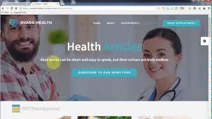 avada health theme wordpress theme youtube