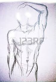 man torso sketch pencil drawing stock photo picture and royalty