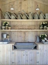 galvanized tub kitchen sink garden shed cottage deck patio giannetti home