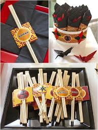 a japanese origami ninja birthday party party ideas party