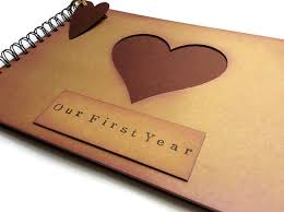 one year anniversary gift for him one year anniversary gift for anniversary scrapbook