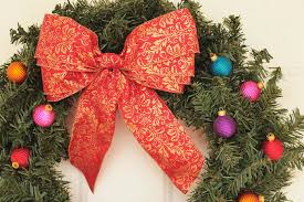 christmas ribbons and bows how to make wire ribbon christmas bows shutterfly