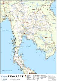 Thailand Blank Map by Thailand Maps