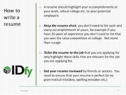 how to write a resume resume format 101 for freshers and experience u2026