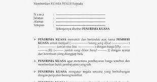format surat kuasa jual beli rumah contoh surat kuasa penjualan dan pembelian murad maulana