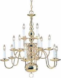 Sputnik Chandelier Lowes Portfolio 10 Light Olde Georgetown Polished Brass Chandelier