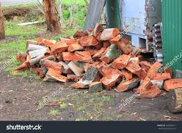 cut split australian red gum fire stock photo 199465517 shutterstock