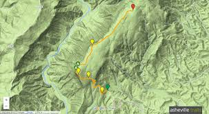 Mountain Map Shortoff Mountain Trail At Linville Gorge