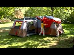 ozark trail 12 person 3 room l shaped instant cabin tent youtube