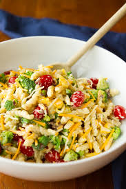 Creamy Pasta Salad Recipes by Cheesy Broccoli Pasta Salad With Grilled Pork Tenderloin Chopped