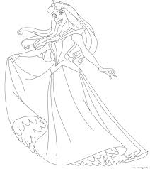 Coloriage aurore princesse 74  JeColoriecom
