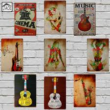 Signs And Plaques Home Decor Online Get Cheap Vintage Music Sign Aliexpress Com Alibaba Group
