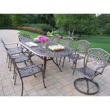 Refinish Iron Patio Furniture by Oakland Living Mississippi Aluminum 60 In Patio Dining Set