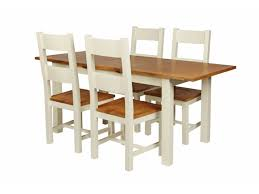 Oak Extending Dining Table And 4 Chairs Red Ladder Back Chair Awesome Countr876 Country Oak 180cm Cream