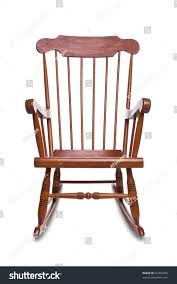 White Rocking Chair Wooden Rocking Chair Isolated On White Stock Photo 62456605