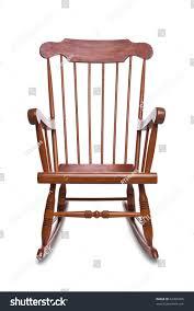 Wooden Rocking Chair Wooden Rocking Chair Isolated On White Stock Photo 62456605