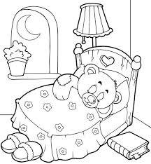 teddy bear sleep tight coloring page color luna