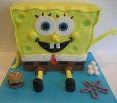 bakeworld talks how to make a spongebob cake