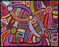 Schreibtische B O G Stig Aboriginal Artwork By Sally Clark Sold Through Coolabah Art On