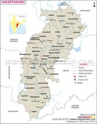 India River Map by Chhattisgarh Rivers Map