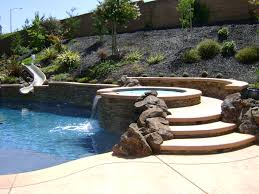 Small Backyard With Pool Landscaping Ideas by Swimming Pool Spa Design