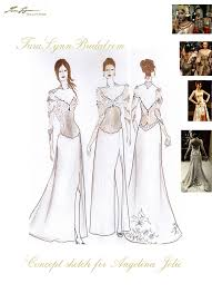 eco couture wedding dress concept sketch by tara lynn