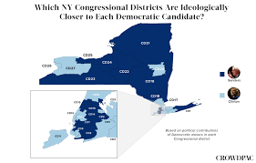 New York Political Map by Mapping Ny Democratic Support Crowdpac