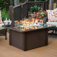 Fire Pit With Glass by Napoleon Rectangle Propane Fire Pit Table Hayneedle