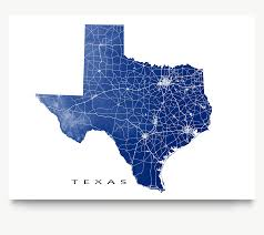Tx State Map by Texas Map Print Usa State Tx U2013 Maps As Art
