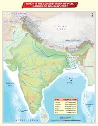 Map Of Rivers Which Is The Longest River Of India U2013 Ganges Or Brahmaputra