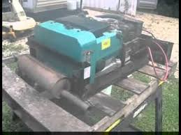 onan emerald plus generator running outside an rv motorhome for
