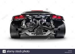 Audi R8 Turbo - rear view of audi r8 v10 quattro super sports car in the audi