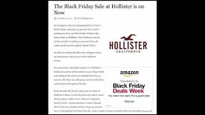 the black friday sale at hollister is on now