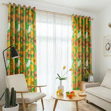 Bright Colored Curtains Bright Colored Fruit Curtain Drapes