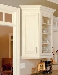 kitchen wall cabinet end shelf crown moulding on kitchen cabinets homeszu com home ideas