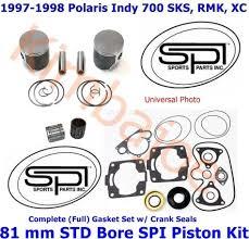 1997 1998 polaris indy 700 sks rmk xc 81 mm std bore spi pistons