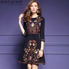chic dress mexican embroidered dress woman black mexican dress boho chic